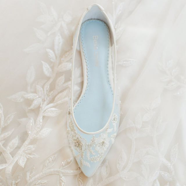 399bcfcac Bella Belle - Floral Beaded Wedding Flats (Adora Ivory), Women's Fashion,  Shoes on Carousell