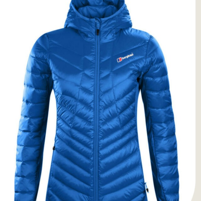 BERGHAUS NWT $399 Tephra Down Jacket Blue sz S / 8 Water repellent warm