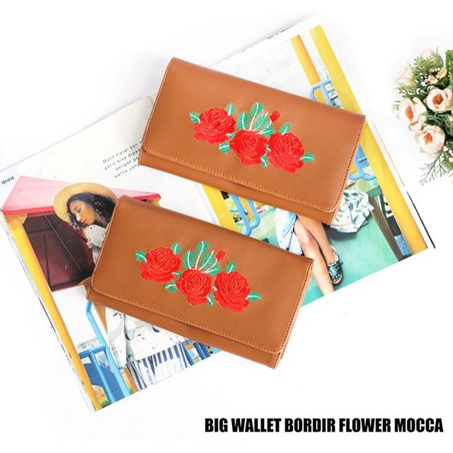 Big wallet bordir flower mocca