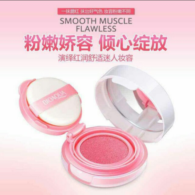 BIOQUA BLUSH ON CUSHION ORI 100%