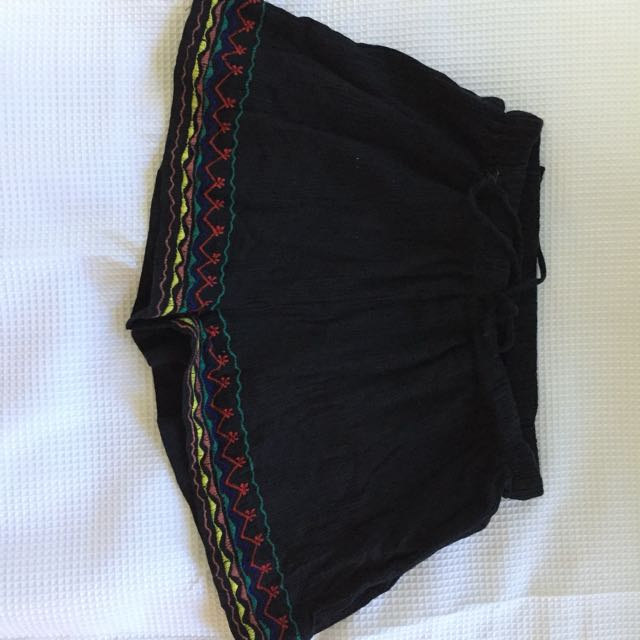 black shorts with coloured detail