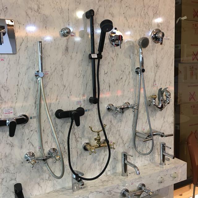 Black Mixer + shower set (Italy)
