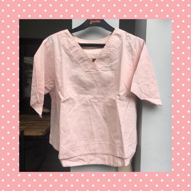 Blouse Pink Pastel