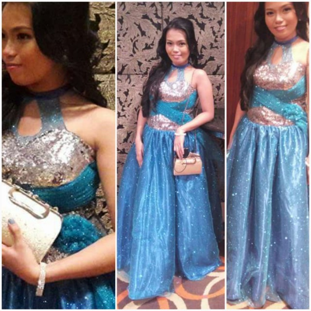 Blue glittered gown #repriced