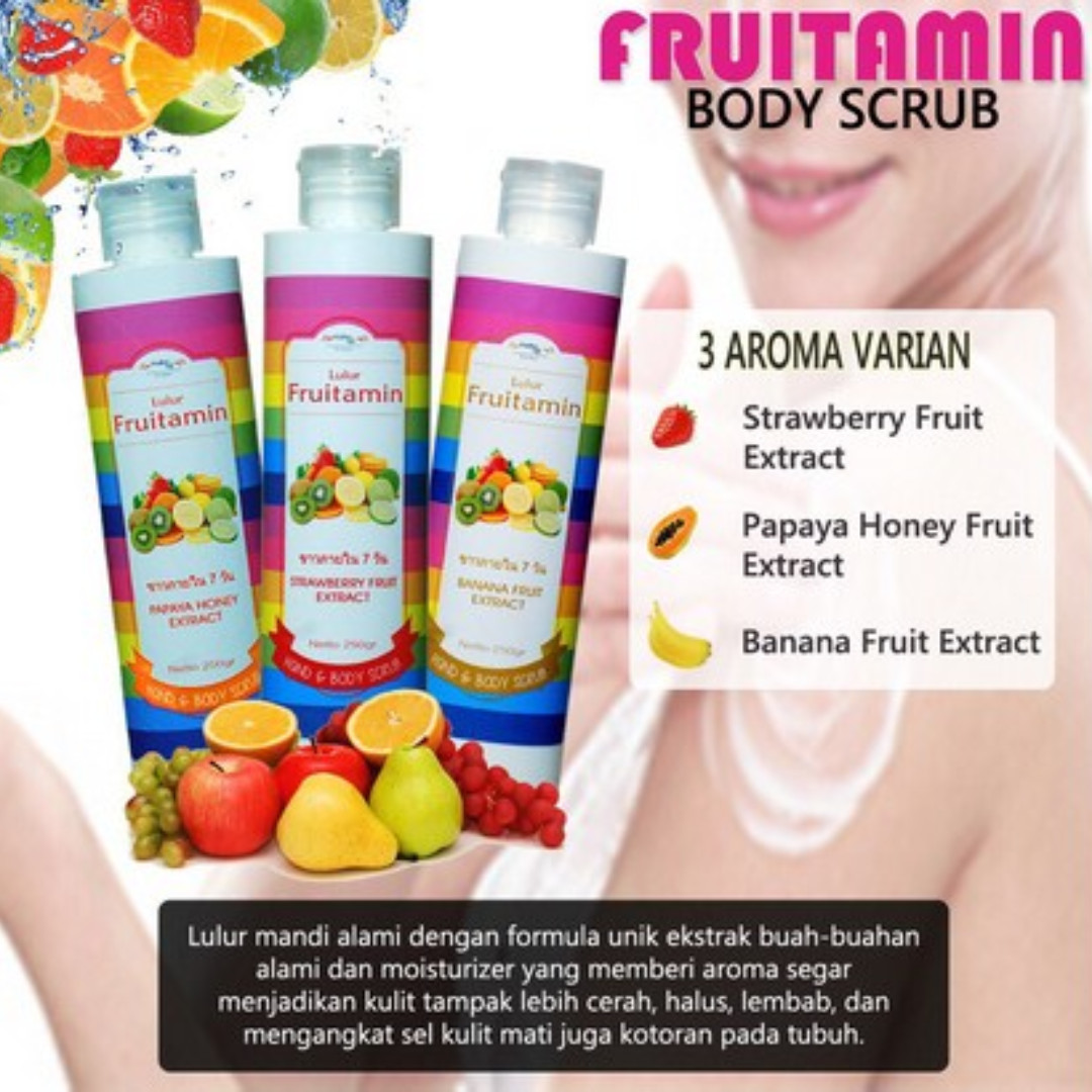 Body Scrub Fruitamin Original BPOM ~ Lulur Fruitamin Original