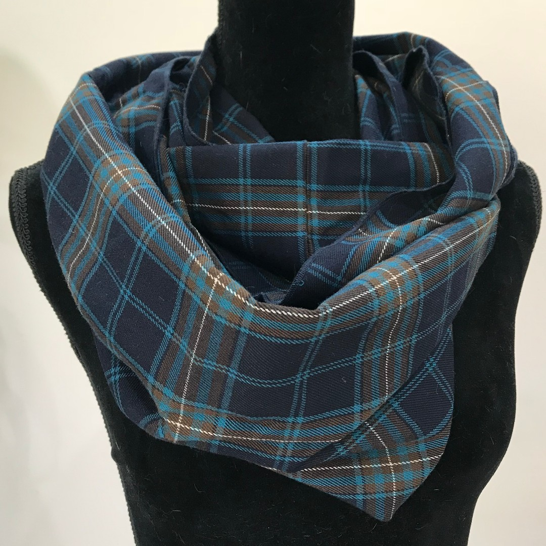 BRAND NEW Check Patterned Snood Stole Scarf
