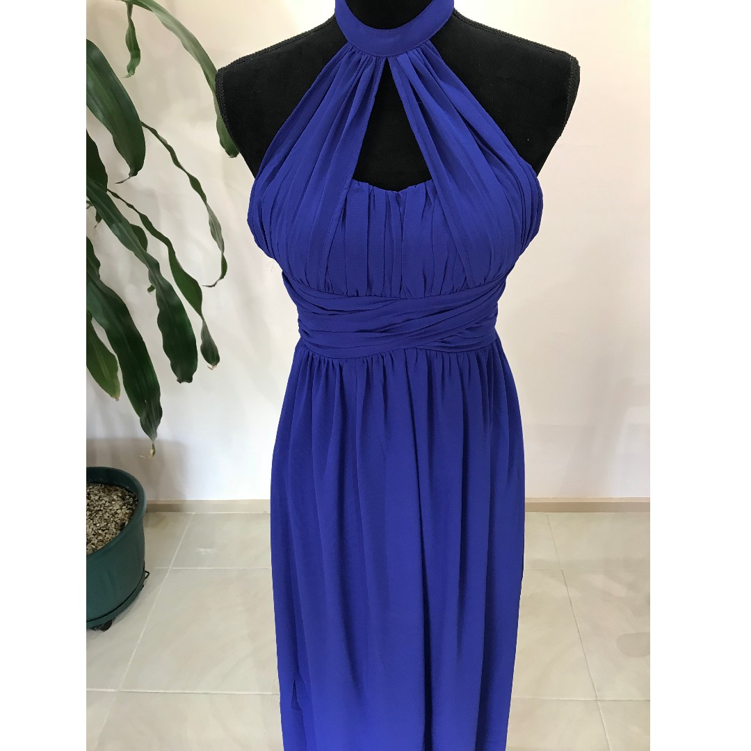 BRAND NEW Royal Blue Halter Maxi Dress (Wedding/ Formal/ Ball)