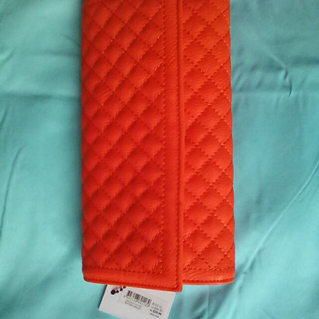 Bright orange wallet