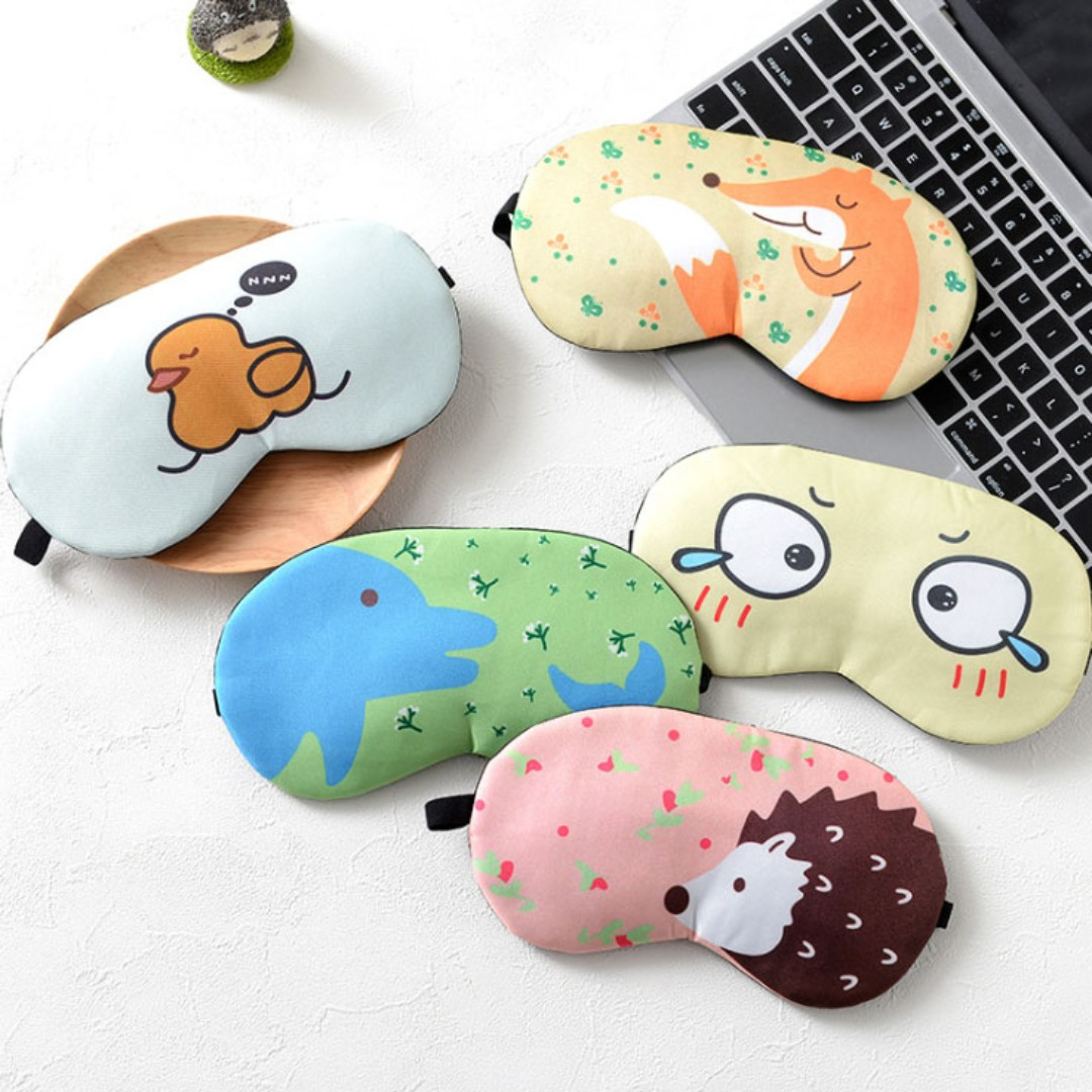 Cartoon Design Sleep Mask Travel Eye Mask with Ice Pack B13701