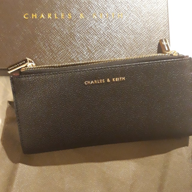 Charles and keith wallet  black and violet
