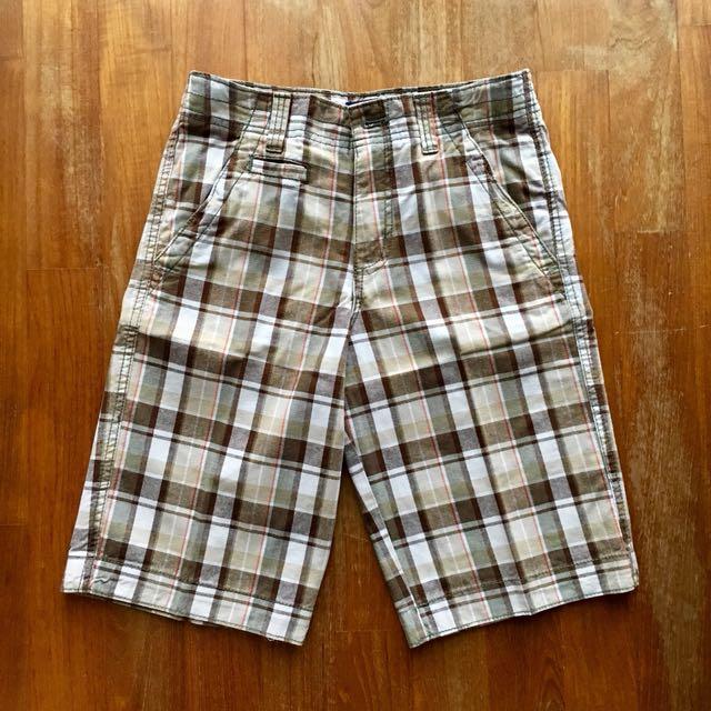 07eff7f8ac Cherokee brown and white plaid bermuda shorts