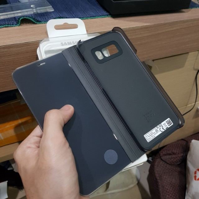 CLEAR VIEW STANDING COVER S8+ BLACK (ORI)