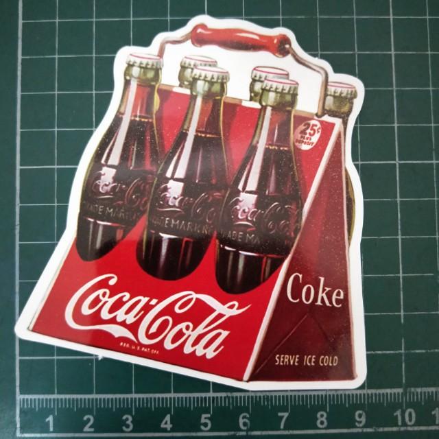 《Coca Cola》正品 行李箱 安全帽 裝飾貼紙