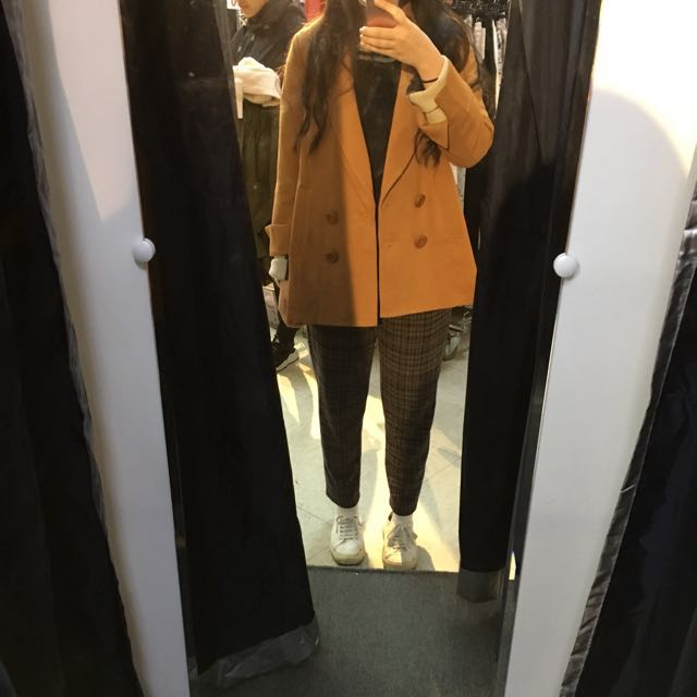 日系品牌Coco deal 駝橘色西裝外套