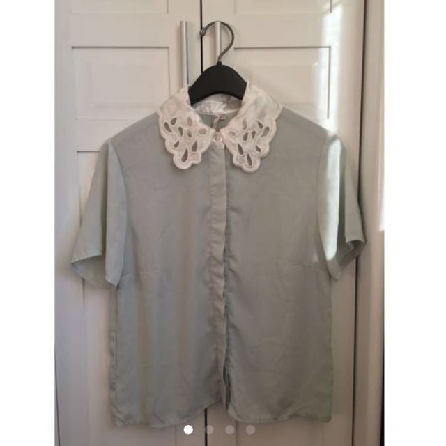 Collared Mint Polo Top