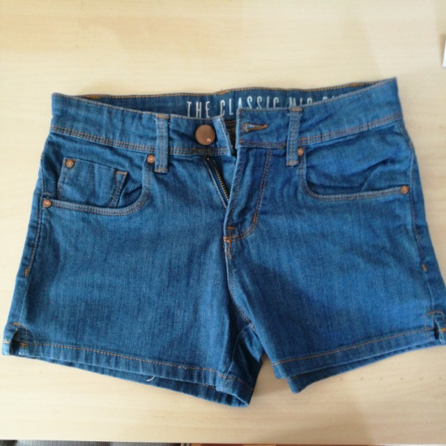 Cotton on classic mid rise blue shorts