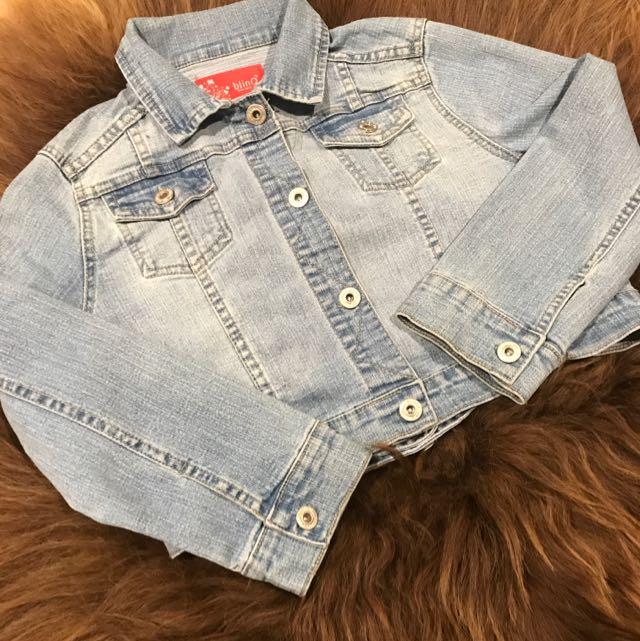 Cropped Denim Jacket Size 8