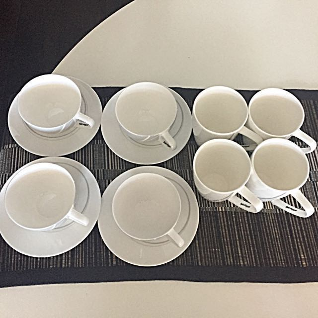 Cups and saucers, mugs