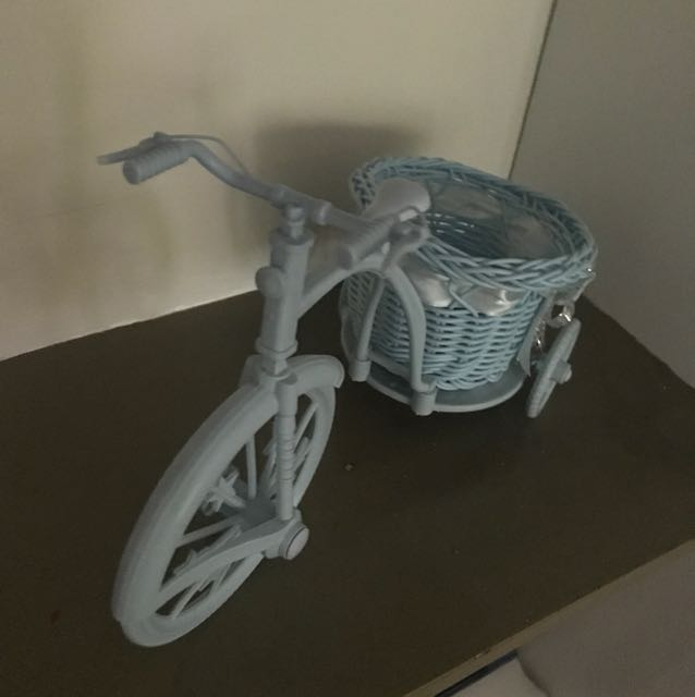 Display Accent (powder blue) Bicycle with Basket