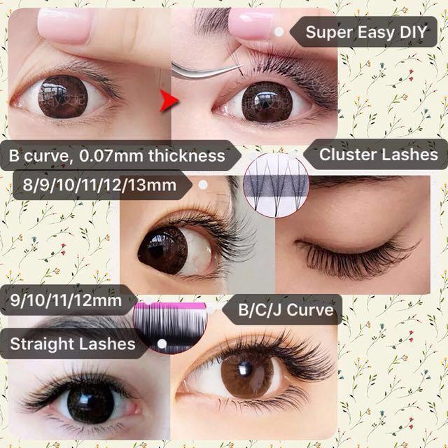 Diy Eyelash Extension Set Basic Health Beauty Makeup