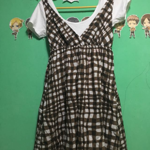 Dress(white not included) with stain