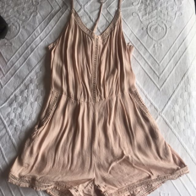 Dusty pink play suit