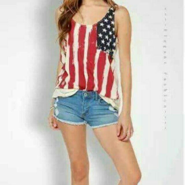 Flag Sleeveless tops