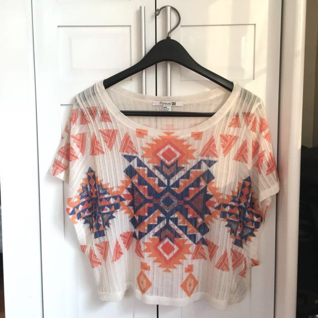 FOREVER 21 Aztec Knitted Top