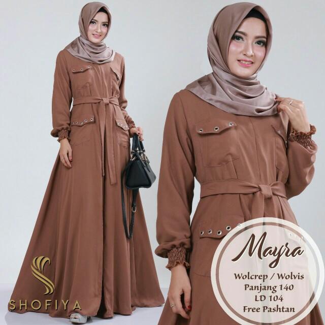Gamis Mayra Ori Shofiya Fesyen Wanita Muslim Fashion Di Carousell