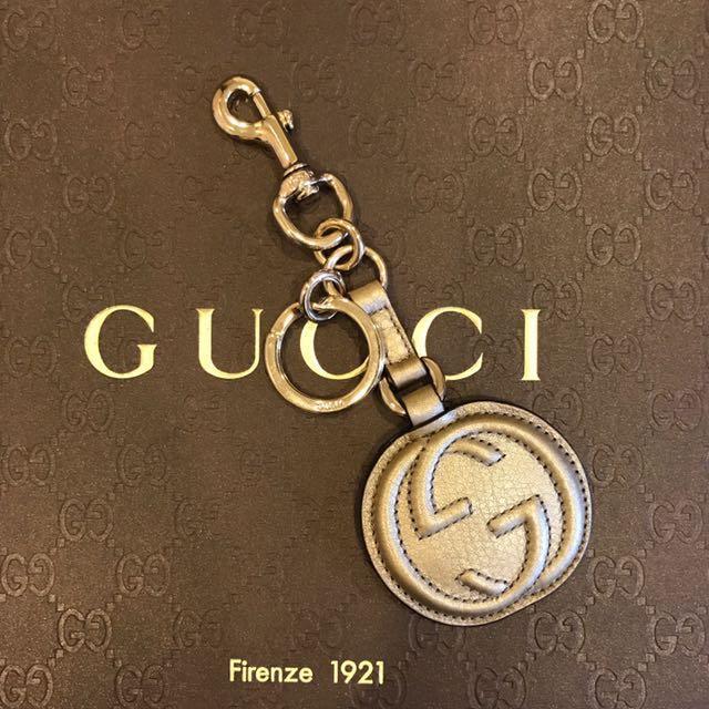 Gucci 金色牛皮 鑰匙圈吊飾