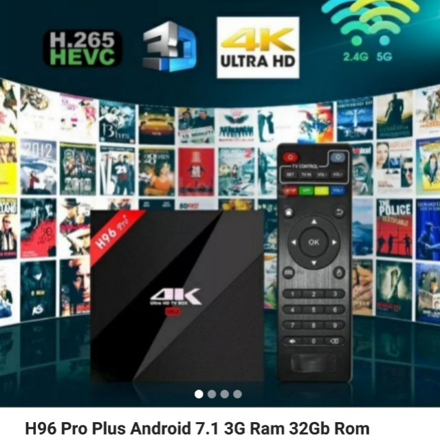 H96 Pro Plus Android 7 1 3G/32Gb, Home Appliances, TVs