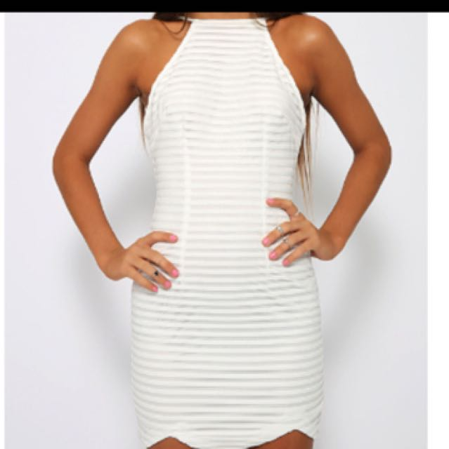 Halter White Dress
