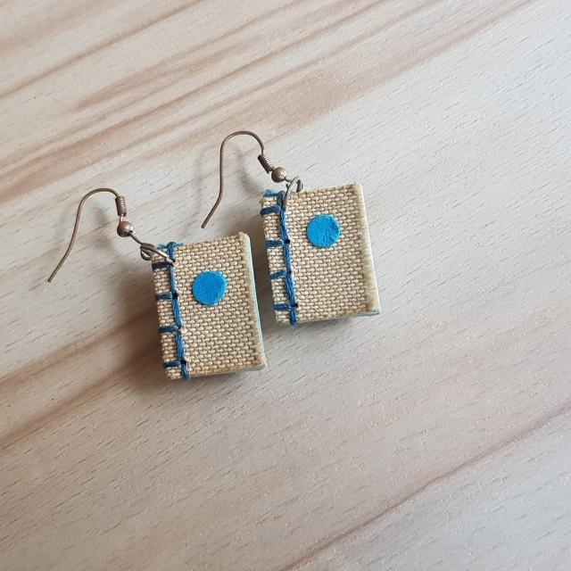 Hand-binding Books Handmade Earrings