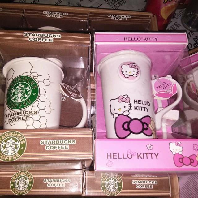 Hello kitty/ Starbucks mug