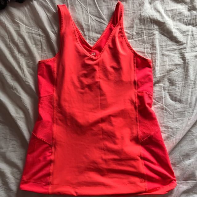 H&M Fluro pink gym top