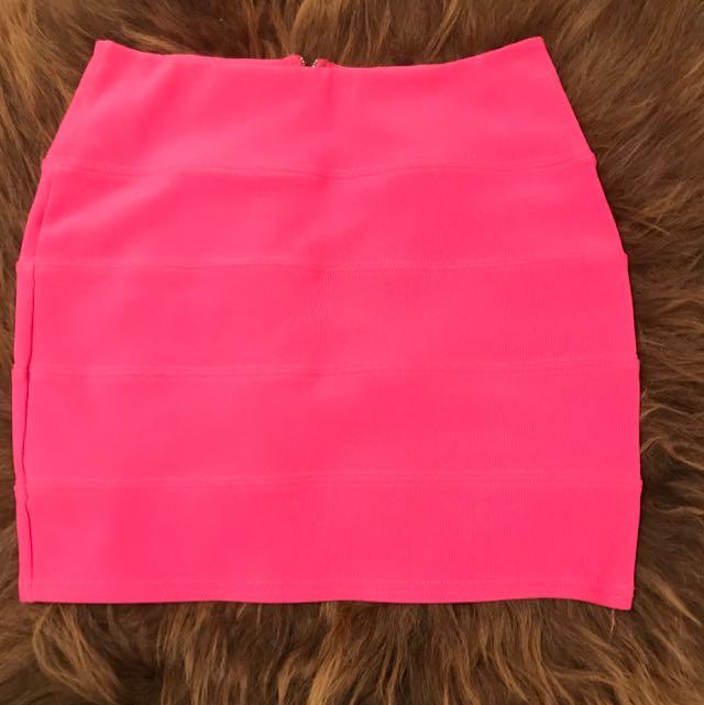 Hot Pink Bandage Skirt Size M