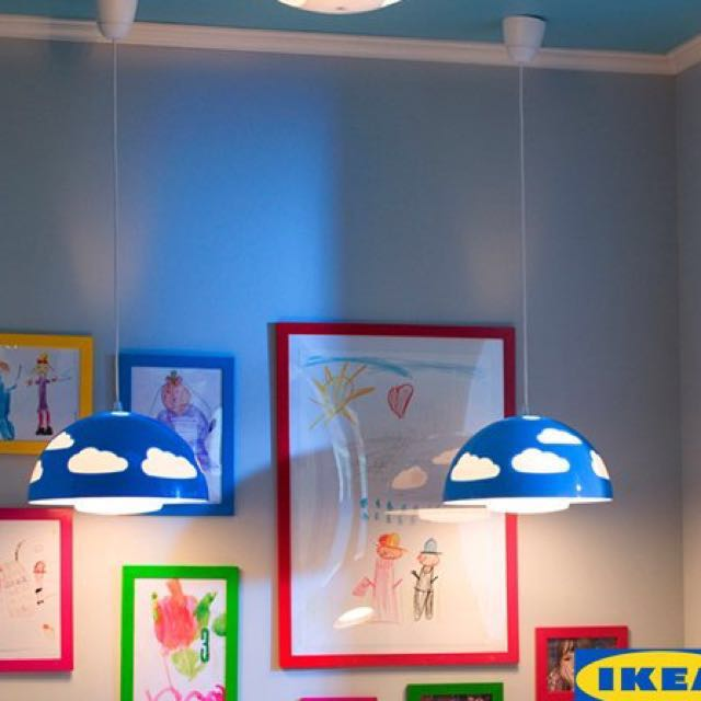 Ikea Kids Lamp / Light (Clouds) Skojig, Home U0026 Furniture, Others On  Carousell