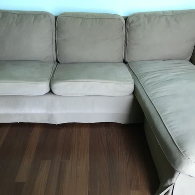 Ikea Olive Green Living Room Sofa Lounger Furniture Sofas On