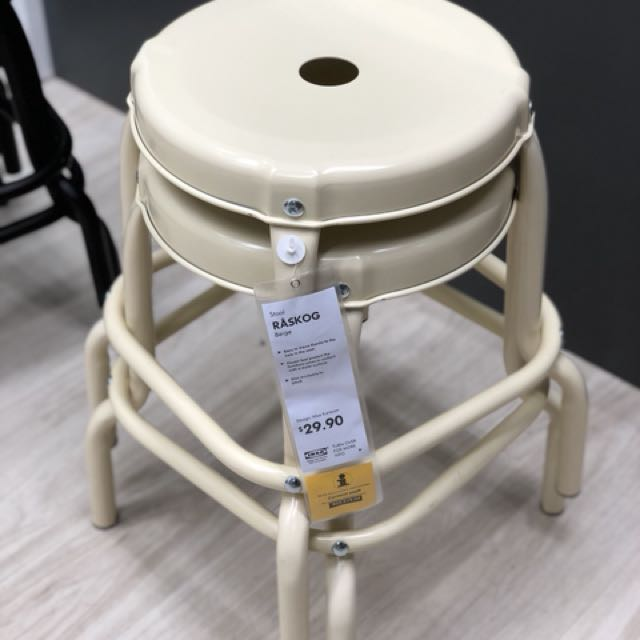 low priced 3efab 4c4ee Ikea Raskog Stool (white) - original price $29.90, Furniture ...
