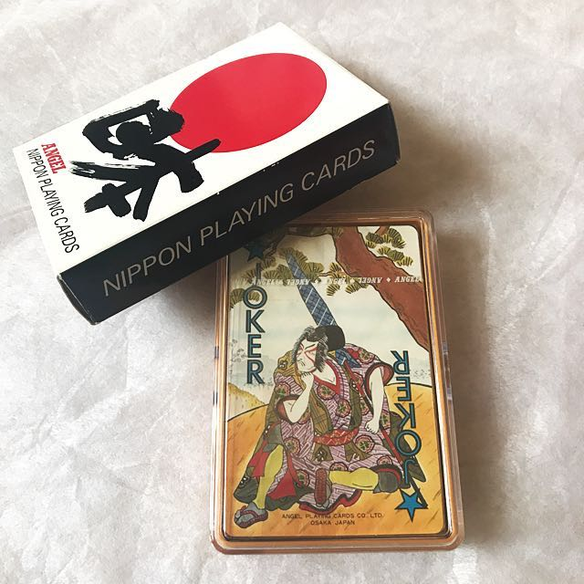 Japanese-art deck/playing cards boxed set - new