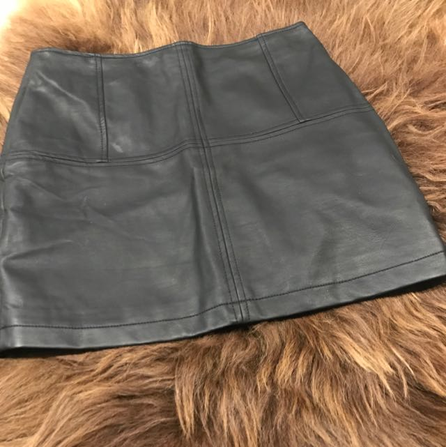 Jorge Leather Look Skirt Size 10