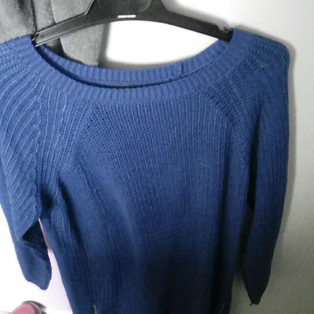 Knit jumper with zips