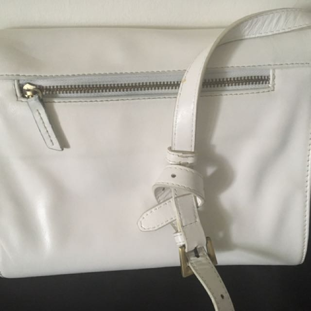 Leather State of Folly cross body handbag