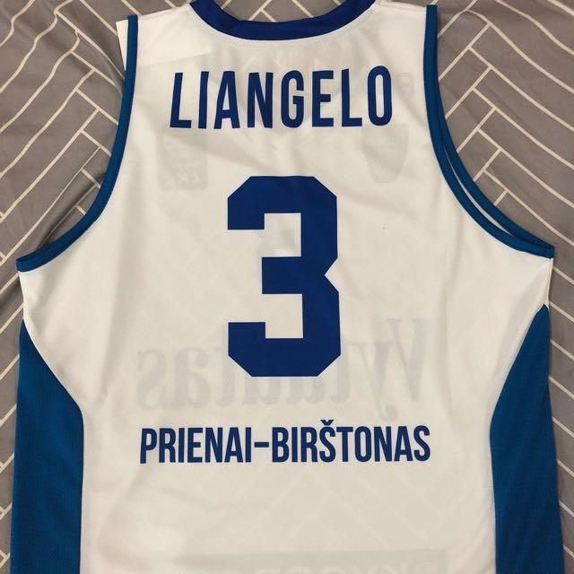free shipping 0472d 9ade1 LiAngelo Ball Lithuania Vytautas Prienai Basketball Jersey (101% Authentic)