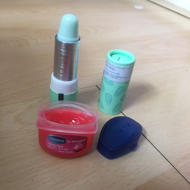 Lip care product (Vaseline & Sephora)