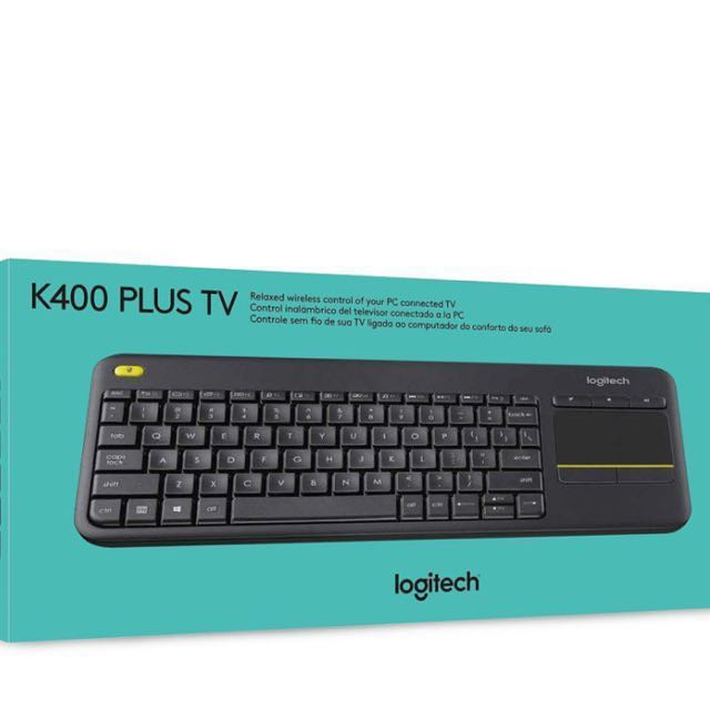 86728bbf764 Logitech K400 Plus Wireless Touch Keyboard for Windows, Android ...