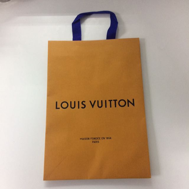 b2dd21d2faf LV Paper Bag, Luxury, Accessories on Carousell