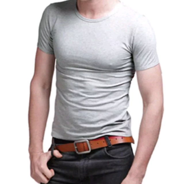 Mens slim fit cotton tees (white & grey)brand new