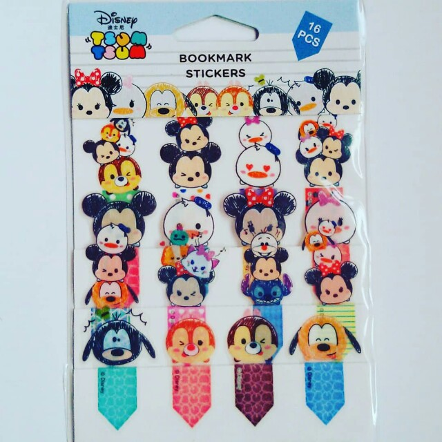 Mickey Mouse Tsumtsum Bookmark stickers