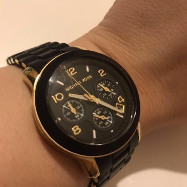 MK watch black gold authentic